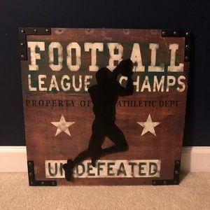 NWT Football Wall Art